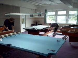 Tischaufbau 2